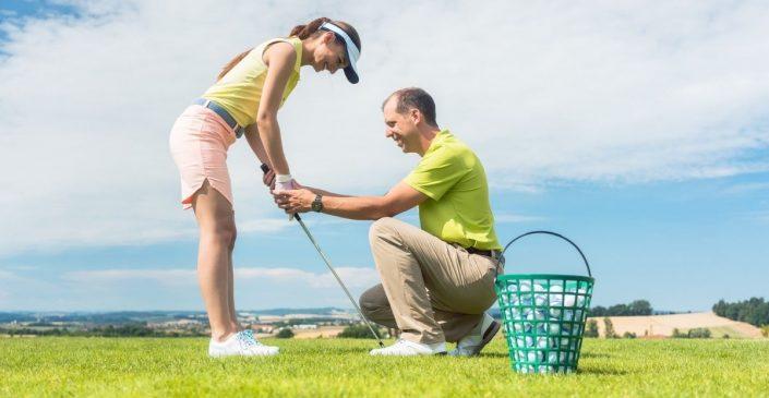 La position initiale au golf (l'adresse)